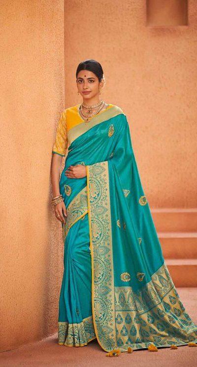 original-pure-pattu-sea-green-color-festive-wear-saree-for-womens