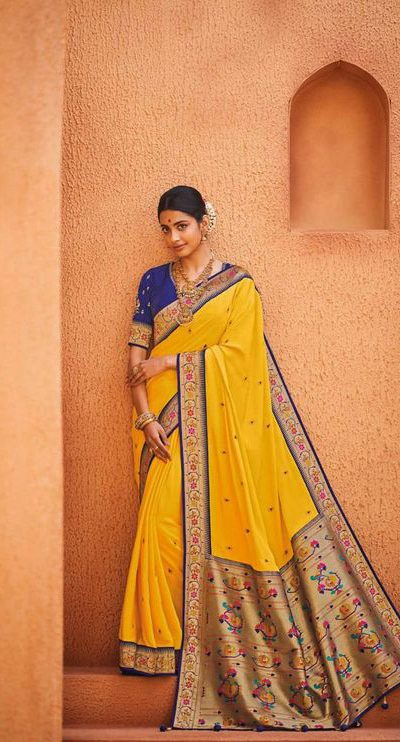 original-pure-pattu-yellow-color-saree-for-womens-in-events