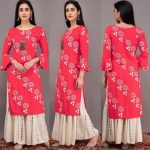 pink-color-heavy-rayon-floral-kurta-for-women