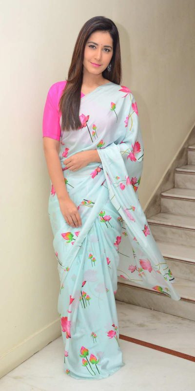 rashi-kanna-in-womens-daily-wear-sky-blue-color-georgette-with-printed-saree