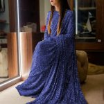 sabyasachi-blue-color-fancy-thread-sequence-work-party-wear-saree