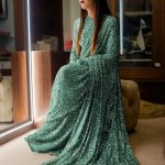 sabyasachi-green-color-fancy-thread-sequence-work-party-wear-saree