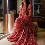 sabyasachi-red-color-fancy-thread-sequence-work-party-wear-saree