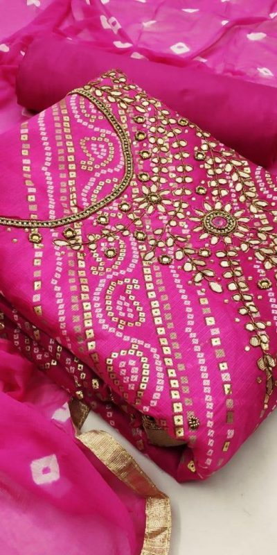 special-dress-material-for-womens-in-pink-color-kota-chex-print