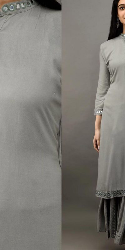 womens-daily-wear-grey-color-heavy-rayon-kurti-with-plazzo