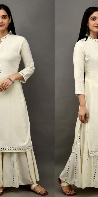 womens-daily-wear-white-color-heavy-rayon-kurti-with-plazzo