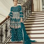 aashirwad-peacock-blue-color-net-coding-embroidered-sharara-suit
