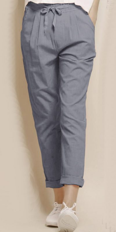 alluring-grey-color-cotton-with-linen-weaving-comfort-trouser