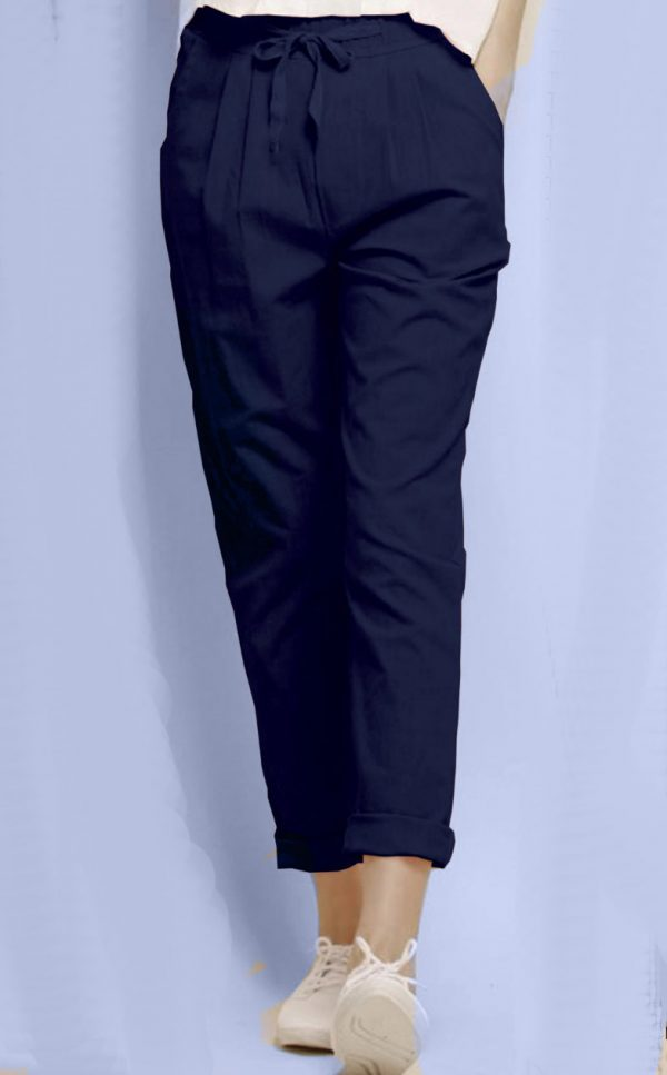 alluring-navy-blue-color-cotton-with-linen-weaving-comfort-trouser