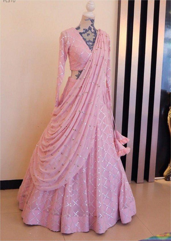 amazing-baby-pink-color-taffeta-silk-mirror-work-lehenga