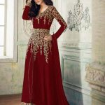 anarkali-for-womens-in-red-color-georgette-with-embroidery-work