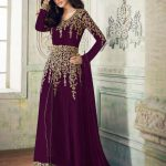 anarkali-for-womens-in-wine-color-georgette-with-embroidery-work