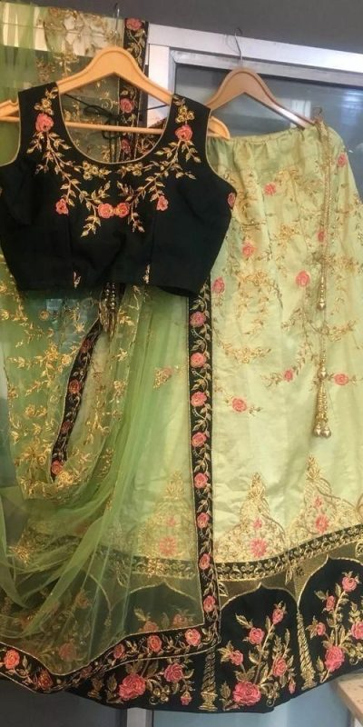 beautiful-light-green-color-banglory-satin-silk-lehenga