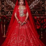 beautiful-neha-kakker-in-latesht-red-color-bollywood-bridal-lehenga-choli