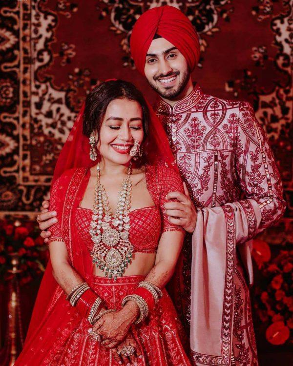 beautiful-neha-kakker-in-latesht-red-color-bollywood-bridal-lehenga-choli
