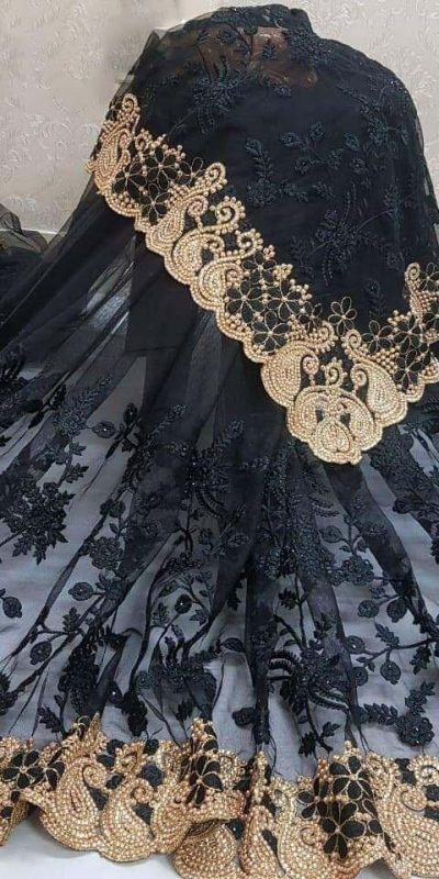 black-color-heavy-mono-net-and-embroidery-stone-work-saree