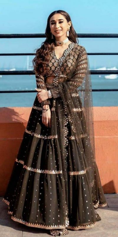 brown-color-heavy-georgette-foil-mirror-hand-work-lehenga-choli