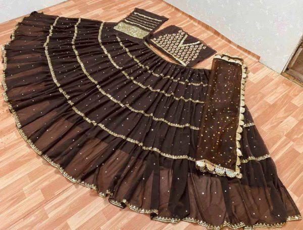 brown-color-heavy-georgette-foil-mirror-hand-work-lehenga-choli