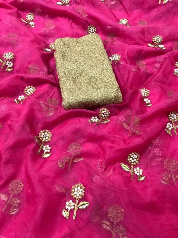 butterfly-net-pink-multi-embroidery-silver-zari-pearl-work-saree