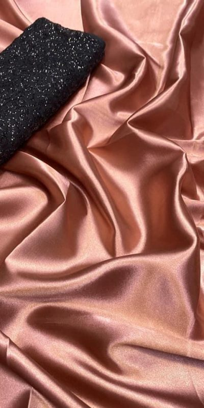 exclusive-party-wear-bronze-color-satin-silk-saree