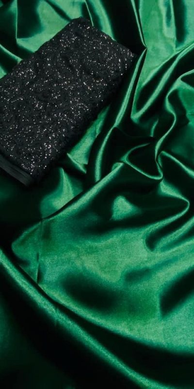 exclusive-party-wear-green-color-satin-silk-saree
