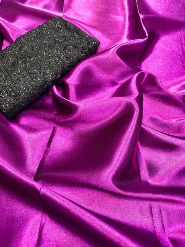 exclusive-party-wear-pink-color-satin-silk-saree