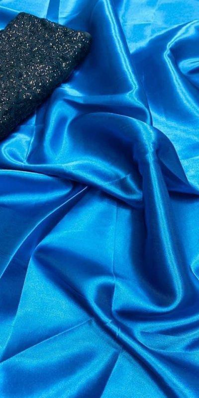 exclusive-party-wear-sky-blue-color-satin-silk-saree