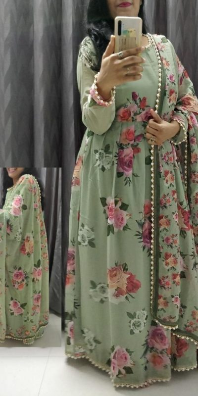feminine-green-color-crepe-silk-with-floral-printed-gown