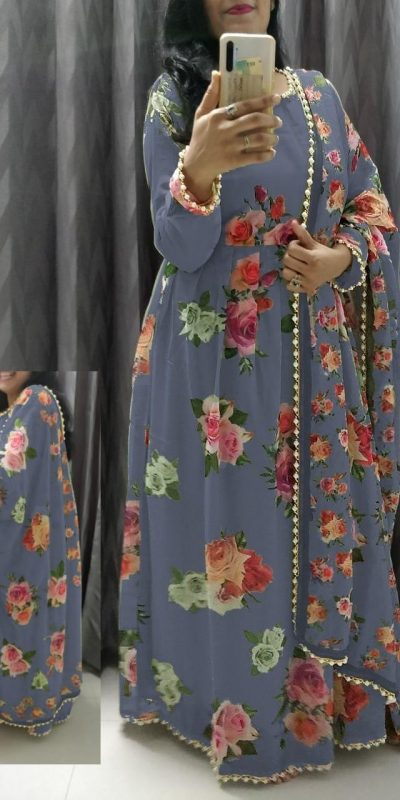 feminine-navy-blue-color-crepe-silk-with-floral-printed-gown