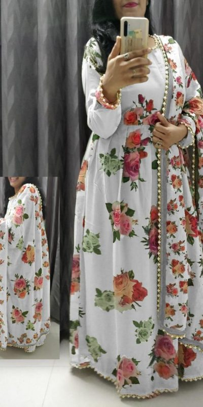 feminine-white-color-crepe-silk-with-floral-printed-gown