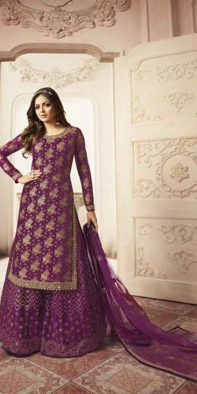 grand-look-with-pink-color-heavy-jacquard-silk-georgette-plazo-suit