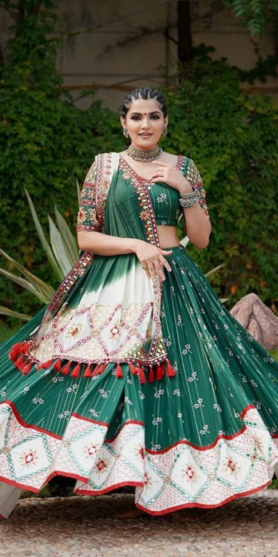 green-color-majestic-soft-butter-silk-mirror-work-lehenga-choli