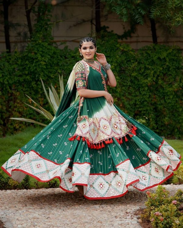 green-color-majestic-soft-butter-silk-mirror-work-lehenga-choli