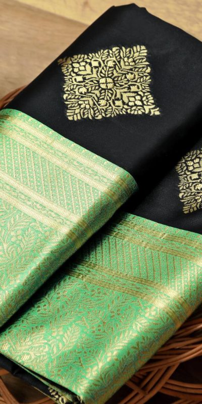 harmonious-black-color-kanchipuram-silk-woven-saree