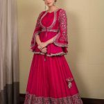 kriti-sanon-in-pink-color-georgette-trendy-designer-lehenga