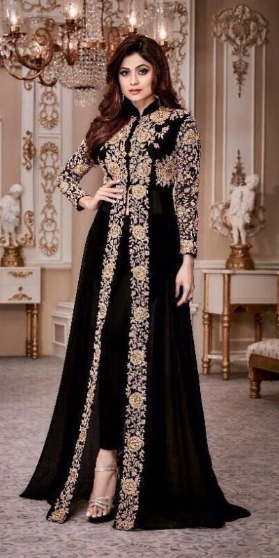 luminous-black-color-georgette-with-embroidery-anarkali-suit