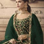 maisha-womens-green-color-net-with-embroidered-lehenga-choli-for-womens