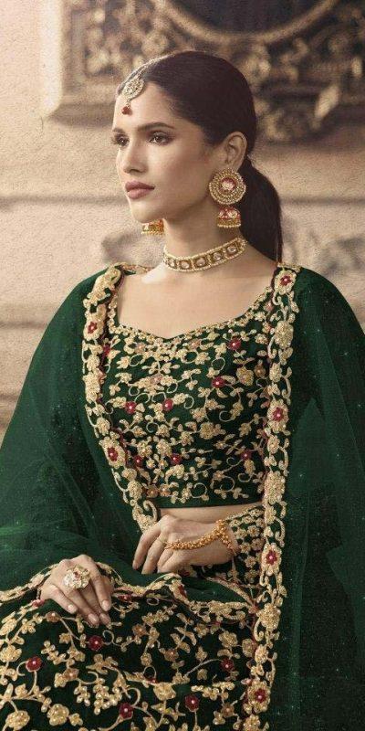 maisha-womens-green-color-net-with-embroidered-lehenga-choli-for-womens