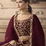 maisha-womens-maroon-color-net-with-embroidered-lehenga-choli-for-womens