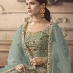 maisha-womens-mint-color-net-with-embroidered-lehenga-choli-for-womens