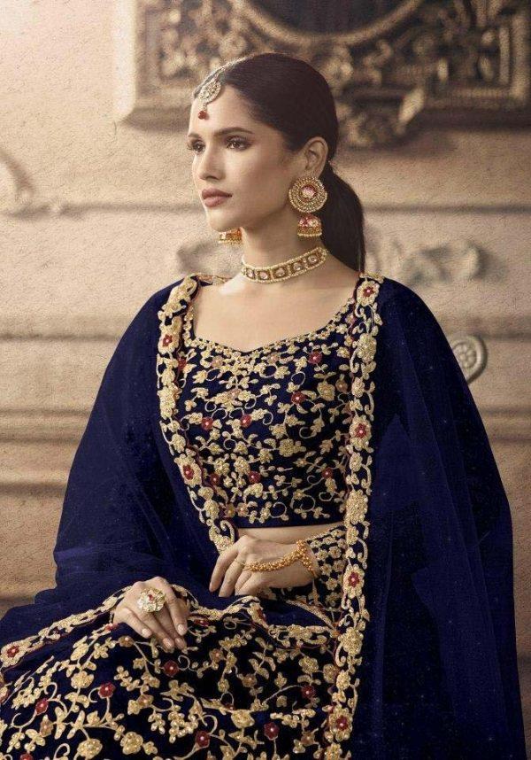 maisha-womens-navy-blue-color-net-with-embroidered-lehenga-choli-for-womens
