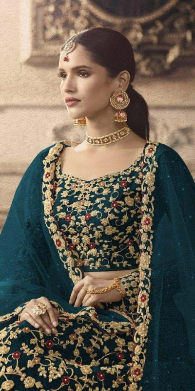 maisha-womens-peacock-blue-color-net-with-embroidered-lehenga-choli-for-womens