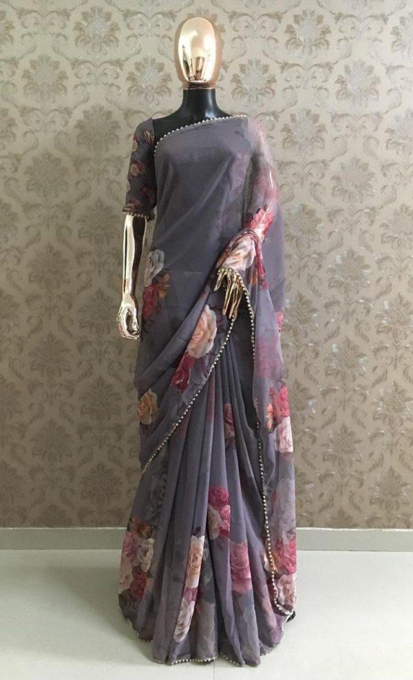 pretty-grey-color-georgette-digital-printed-party-wear-saree