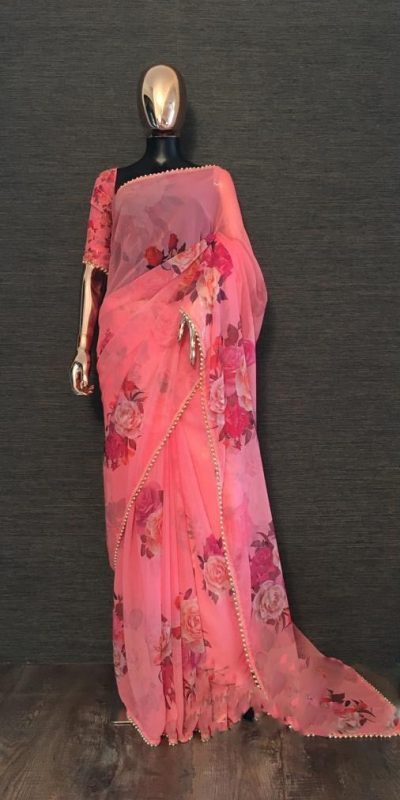 pretty-pink-color-georgette-digital-printed-party-wear-saree