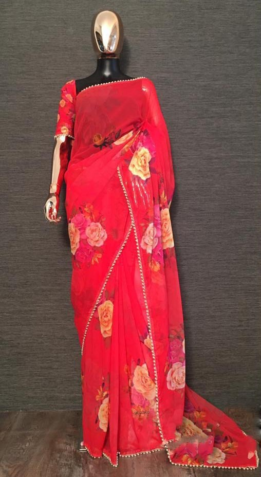 pretty-red-color-georgette-digital-printed-party-wear-saree