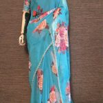 pretty-sky-blue-color-georgette-digital-printed-party-wear-saree