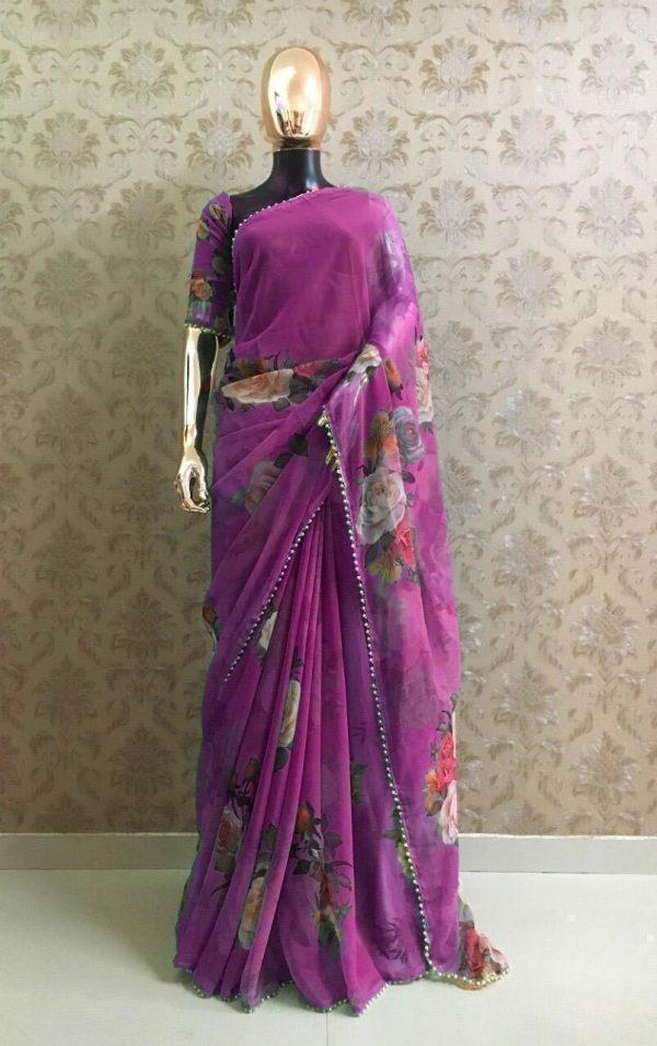 pretty-violet-color-georgette-digital-printed-party-wear-saree