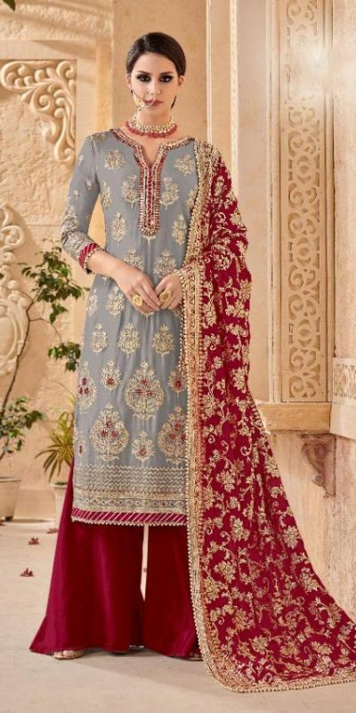 shree-fab-grey-color-georgette-embroidery-work-sharara-suit
