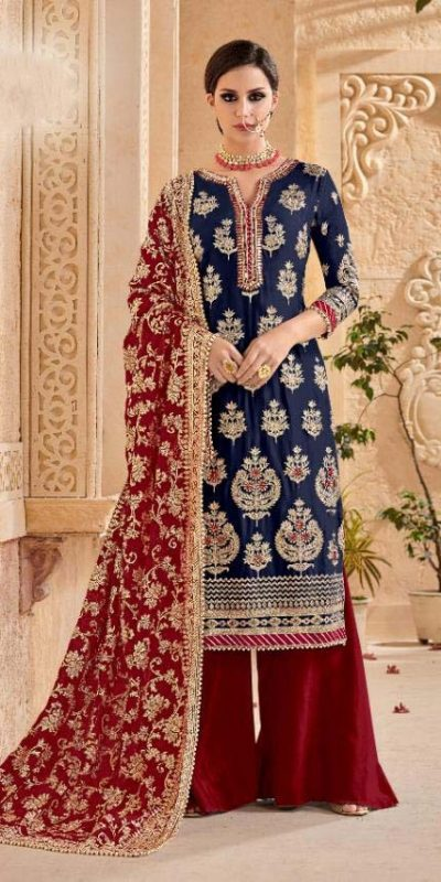 shree-fab-navy-blue-color-georgette-embroidery-work-sharara-suit