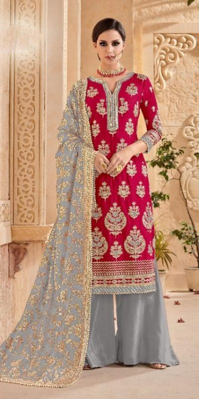 shree-fab-red-color-georgette-embroidery-work-sharara-suit
